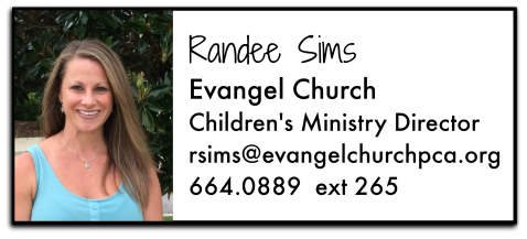 Randee Sims Evangel Church Children's Director